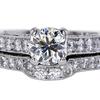 1.04 ct. Round Cut Bridal Set Ring #1