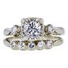 0.68 ct. Round Cut Bridal Set Ring, G, VS1 #1
