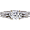 1.21 ct. Round Cut Bridal Set Ring, G, SI2 #3