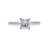 0.97 ct. Princess Cut Solitaire Ring, H, VS2 #3