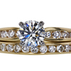 0.83 ct. Round Cut Bridal Set Ring, H, VS2 #3