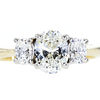 1.08 ct. Oval Cut 3 Stone Ring, I, VS2 #3