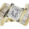 0.82 ct. Princess Cut Solitaire Ring, H, VVS2 #4