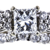 0.97 ct. Princess Cut Bridal Set Ring, G, SI2 #4
