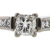 1.01 ct. Princess Cut Bridal Set Ring, H-I, I1 #1