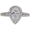 1.03 ct. Pear Cut Central Cluster Ring, F, SI2 #3