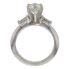 0.96 ct. Round Modified Brilliant Cut Solitaire Ring, H, SI2 #4