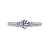 0.57 ct. Round Cut 3 Stone Ring, F, VVS2 #4