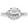 2.05 ct. Oval Cut Central Cluster Ring, I, SI2 #2