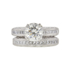 2.26 ct. Round Cut Bridal Set Ring, J, SI1 #3