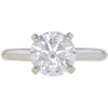 2.04 ct. Round Cut Solitaire Ring, D, I2 #3