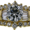 1.42 ct. Round Cut Central Cluster Ring #1