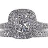 1.0 ct. TIFFANY & CO. TIFFANY SOLESTE® Cushion Cut double halo diamond engagement ring, F, VVS2 #1