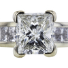 1.66 ct. Princess Cut Solitaire Ring, H-I, I1 #2