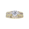 0.77 ct. Round Cut Bridal Set Ring, D, SI1 #3