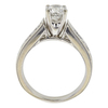 0.95 ct. Round Cut Bridal Set Ring, F-G, I2 #3