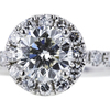 0.98 ct. Round Cut Halo Ring, I, SI2 #4