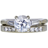 1.16 ct. Round Cut Bridal Set Ring, F, I1 #3