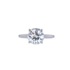 2.21 ct. Round Cut Solitaire Ring, J, SI2 #2