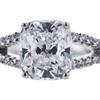 2.12 ct. Cushion Cut Bridal Set Ring, F, VS2 #4