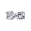 0.85 ct. Princess Cut Bridal Set Ring, G, VS1 #3