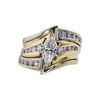 0.74 ct. Marquise Cut Bridal Set Ring, H, SI1 #3