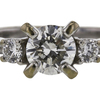 1.01 ct. Round Cut 3 Stone Ring, H, I1 #4