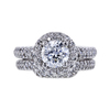 1.14 ct. Round Cut Bridal Set Ring, D, SI1 #3