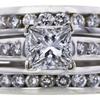 0.99 ct. Princess Cut Bridal Set Ring, E, SI2 #1