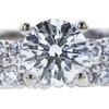 0.70 ct. Round Cut Bridal Set Ring, H, VS2 #4