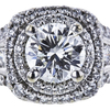 1.01 ct. Round Cut Halo Ring, I, VS2 #1
