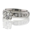 1.00 ct. Round Cut Central Cluster Ring #3