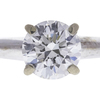 1.01 ct. Round Cut Bridal Set Ring, G, SI1 #4