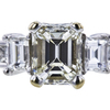 0.90 ct. Emerald Cut 3 Stone Ring, J, VS1 #4