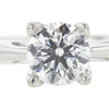 0.96 ct. Round Cut Solitaire Ring, G, SI2 #4