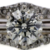 1.55 ct. Round Cut Bridal Set Ring #2