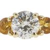 1.09 ct. Round Cut 3 Stone Ring, K, I1 #4