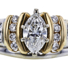 0.74 ct. Marquise Cut Bridal Set Ring, G, SI2 #1