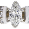 1.04 ct. Marquise Cut Ring, H, I1 #4