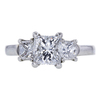 1.02 ct. Princess Cut 3 Stone Ring, E, VVS2 #3