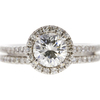 1.01 ct. Round Cut Bridal Set Ring, J, VS2 #3