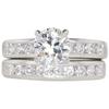 1.1 ct. Round Cut Bridal Set Ring, J, VS1 #3