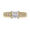 0.72 ct. Princess Cut Solitaire Ring, E, VS2 #3