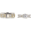 1.34 ct. Round Cut Bridal Set Ring, H, I1 #4