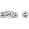 2.06 ct. Round Cut Bridal Set Ring, M, VS1 #2