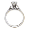 1.01 ct. Round Cut Bridal Set Ring, H, VS1 #4