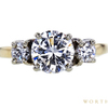 1.15 ct. Round Cut 3 Stone Ring, H-I, VS2-SI1 #2
