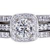 1.09 ct. Cushion Cut Bridal Set Ring #3