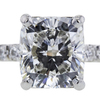 3.20 ct. Cushion Cut Solitaire Ring #4