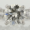 0.98 ct. Round Cut Bridal Set Ring #2